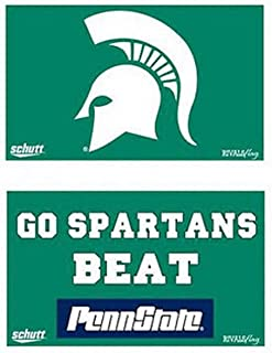 NCAA Rivals Flag Michigan State Spartans MSU 3 x 5 Flag - Go Spartans - Beat PennState