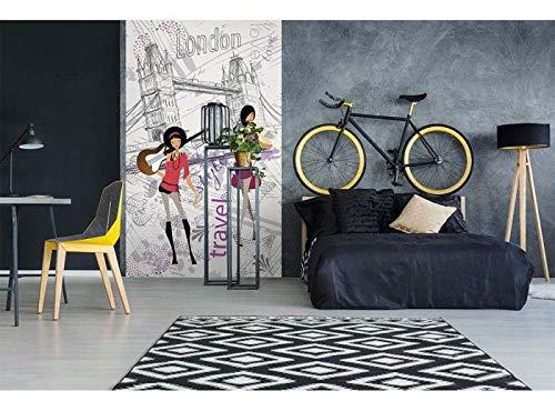 Vlies Fotobehang DE STIJL VAN LONDEN | Niet-Geweven Foto Mural | Wall Mural - Behang - Reusachtige Wandposter | Premium Kwaliteit - Gemaakt in de EU | 150 cm x 250 cm