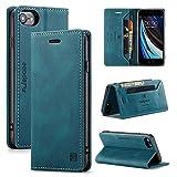 LUFMILY1 funda para teléfono móvil, adecuada para iPhone 6/6s/7/8/se, funda protectora avanzada de piel fina con ranura para tarjetas, compatible con iPhone 6/6s/7/8/SE caso (azul)