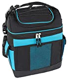 MIER 2 Compartment Cooler Bag Tote Large Insulated Lunch Bag for Picnic, Grocery, Kayak, Car, Travel, Blue