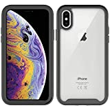 WY Designed for iPhone Xs/X Case, Shock-Absorption Bumper, 360° Full Body Protection with Built-in Screen Protector Shockproof Rugged Cover for iPhone Xs/X Cases 5.8 Inch