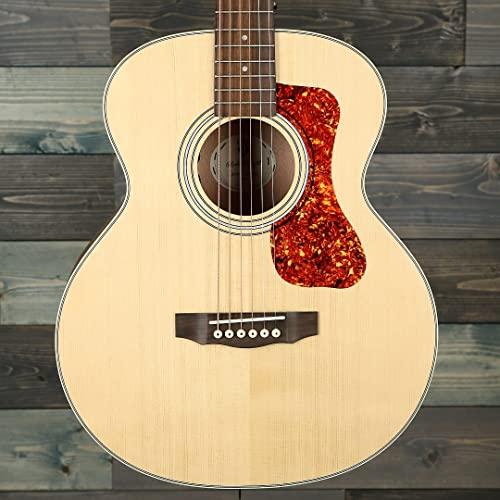 Guild Guitars Jumbo Jr Mahogany Acoustic Guitar, Natural, Archback Solid Top,...
