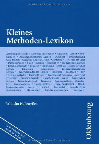 Kleines Methoden-Lexikon von Peterssen, Wilhelm H. (2009) Broschiert