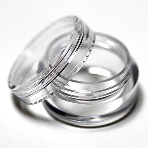 20 x 3 ml vide Plastique Pots Pots W/couvercles à vis Transparent pour nail art/paillettes/maquillage/huiles