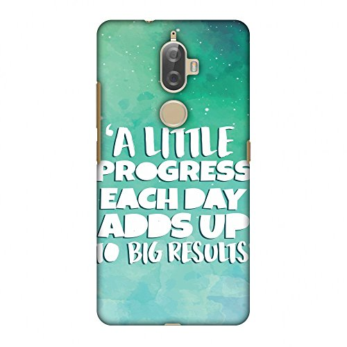 Amzer Slim Fit Handcrafted Designer Printed Snap On Hard Shell Case Back Cover with Screen Cleaning Kit Skin for Lenovo K8 Plus - A Little Progress Each Day HD Color, Ultra Light Back Case