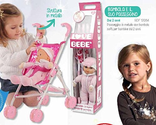 giochi preziosi rdf51084 love bebe - bambola e il suo passeggino