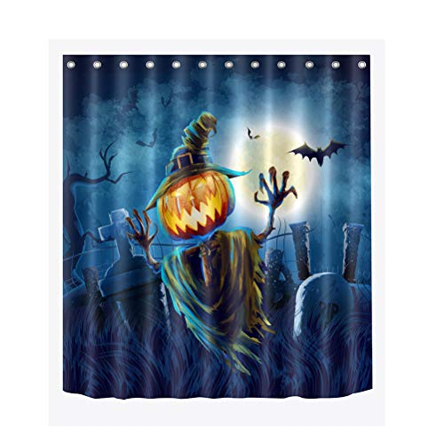 DOITOOL - Cortina de ducha (150 x 180 cm), diseño de fantasma de Halloween