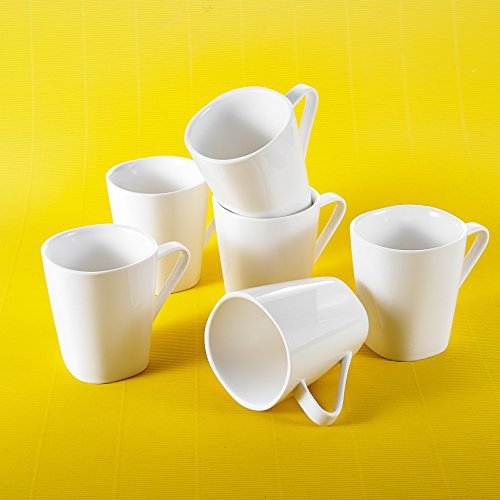 MALACASA, Serie Joesfa, 12 TLG. Set Kaffeeservice 360ml Becher Kaffeebecher-Set Bechersets