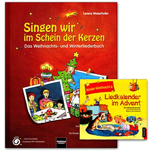Zingen wij in het schein van de kaarsen - boek, CD - een enthousiasme kerst- en winterliederboek - met 177 liedjes, snoepjes, kanons etc - Helbling Verlag 9783850615655 9783850618731
