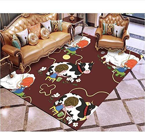Alfombra De Salón Comedor Dormitorio Juvenil Diseño Moderno Dibujos Animados para Áreas Interiores, Mano para Sala De Estar, Dormitorio.-200 X 300 CM