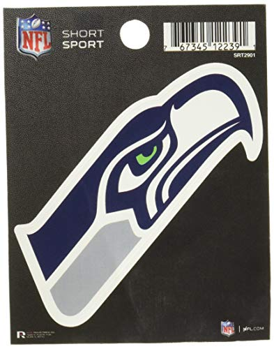 NFL Rico Industries Die Cut Team Logo Short Sport Sticker, Seattle Seahawks