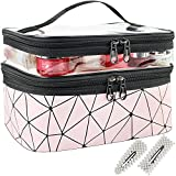 Makeup Bags, Double Layer Travel Makeup Bags For Women, Waterproof Portable Cosmetic Bag for Makeup, Cosmetics Tools, Shampoo, Toiletries