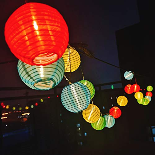 Guirlande Lumineuses 20LEDs 3,2M Guirlande Boule Guinguette Lanterne Décoraion Chambre Multicolorée Intérieur Extérieur pour Jardin Mariage Anniversaire