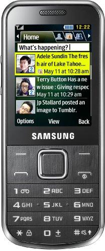 Samsung C3530 Handy (ohne Branding, 5,6 cm (2,2 Zoll) Bildschirm, 3 Megapixel Kamera, MP3-Player) chrom-silber