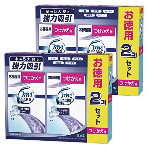 【まとめ買い】ファブリーズ 消臭芳香剤 お部屋用 置き型 無香 つけかえ用 130g×4個