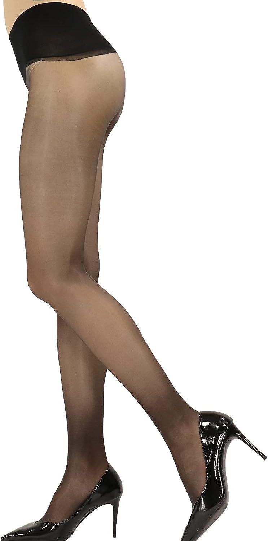 Women 1 Den Oily Shiny stockings Sheer Seamless Tights Ultra Soft PantyHose