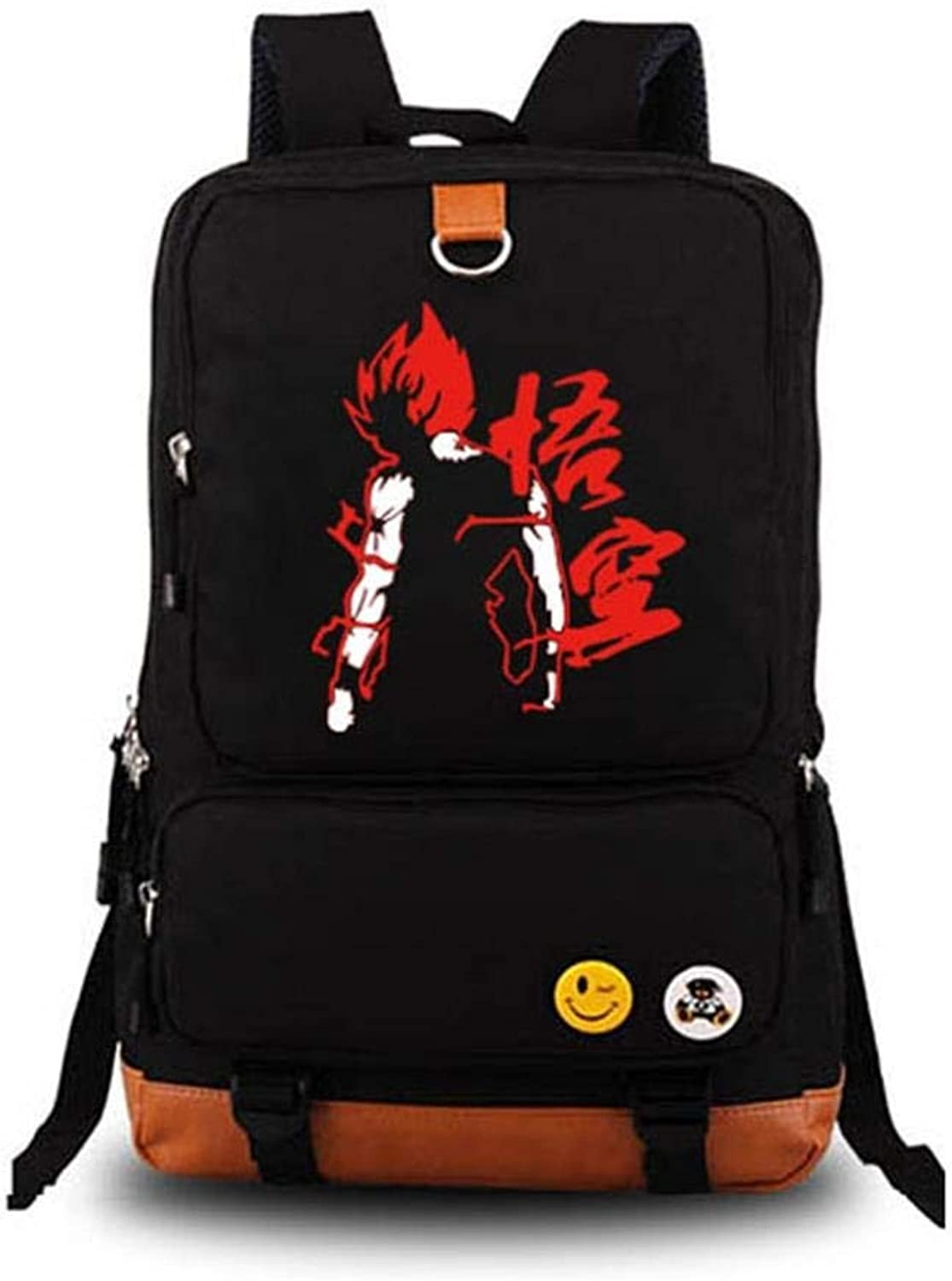 Unisex Anime Backpack Dragon Ball Printed School Bag Laptop Bag Travel Camping Daypack,Black
