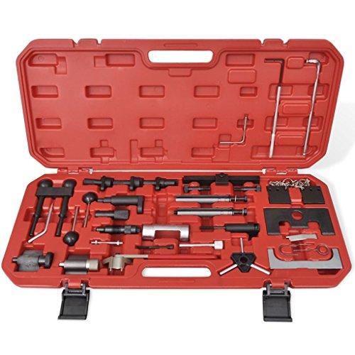 Kit d'outils de calage pour courroie de distribution Approprié pour les moteurs à essence de 1,2 6V - 1.2 12V - 1.4 à 1.6-1.8 - 1.8T - 2.0 16V
