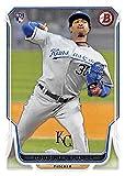 Yordano Ventura baseball card (Kansas City Royals World Series Champion) 2014 Topps Bowman #85 Rookie. rookie card picture