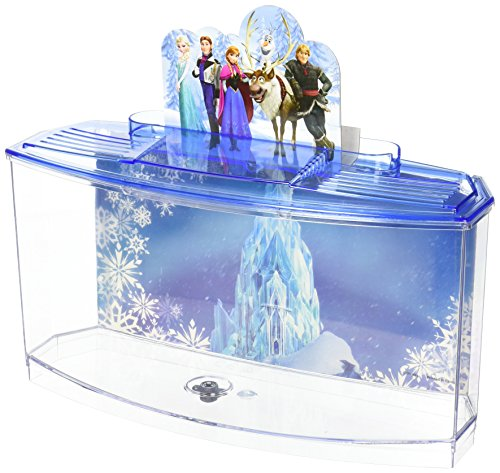 Penn-Plax Officially Licensed Disney's Frozen Themed Betta Tank from Perfect for Betta Fish, This Small Tank is Perfect for Fans of Frozen! Small 0.7 Gallon Tank (FZR108)