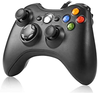JAMSWALL Xbox 360 Mando de Gamepad, Controlador Mando USB de Xbox 360 Compatible para Windows XP/7/8/10