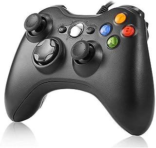 JAMSWALL Manette filaire Xbox 360, Filaire GamePad Controller, Manette du Contrôleur de Jeu Filaire avec Double Vibration ...