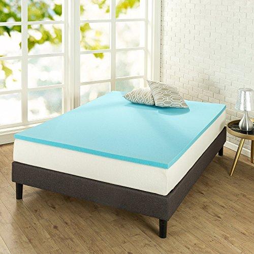 Zinus 1.5 Inch Gel-Infused Green Tea Memory Foam Mattress Topper / Cooling Gel Foam / CertiPUR-US Certified, Twin