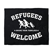 Impact-Mailorder Backpatch Motiv Refugees Welcome, 30 x 30 cm
