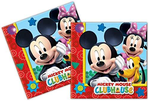 Amscan Serviettes en papier Fête Mickey