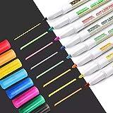 HDZBB 8 unid/Set bolígrafo de Contorno de Doble línea Marcador Fluorescente Brillante Color de Metal Dibujo de Escritura a Mano garabatos de Navidad
