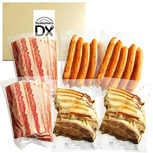 [Amazon限定ブランド] Syabumaru DX ハムソーセージセット ベーコン ソーセージ 焼豚 食べ比べ(合計600g)国産《*冷凍便》