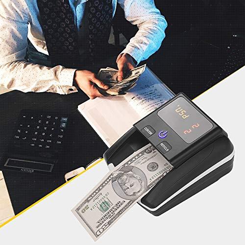 Geldscheinprüfgerät euro Tragbarer Kleiner Banknotenprüfer Nennwertzähler Uv- / Mg- / Ir-erkennung Mit Falschgeldprüfgerät Für Batterien