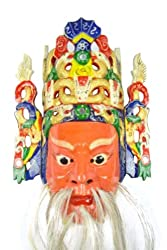 Chinese Opera Wall Hanging Nuo Mask