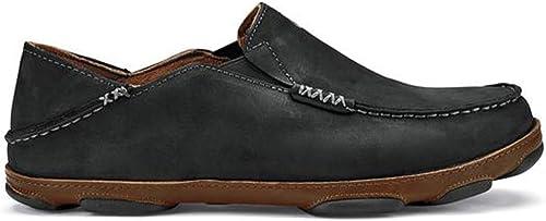 OLUKAI Hommes's Moloa Slip-on,noir Toffee,US 11 M