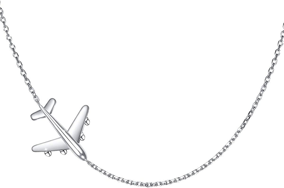 Aircraft Jelwery Set S925 Max 51% OFF Sterling Airplane Max 43% OFF Silver Choker Neckla