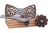 Papillon in legno fatto a mano, chic e di tendenza, accessorio alla moda o idea regalo Facilmente regolabile marrone Taglia Unica