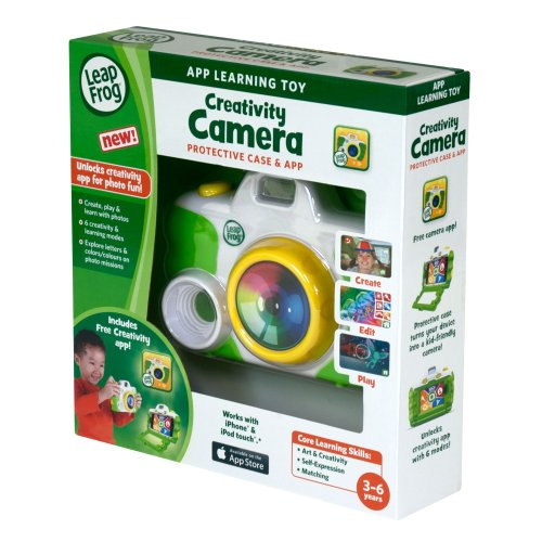 LeapFrog Creativity Camera App with Protective Case, Green (Works with iPhone 4/4s/5 and iPod...