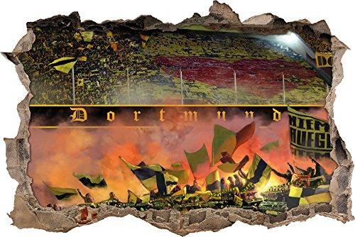 Ultras-Art Herz vonDortmund Wanddekoration, 3D Wandsticker Format: 92x62cm
