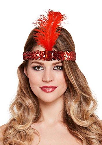 BEST DRESSED Adult Red 1920s Flapper Charleston Hoofdband Feestkleding Accessoire