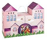 Unbekannt III 10061589 Spielkoffer Märchenschloss, Spielwelt zum Aufklappen für Puppen und...