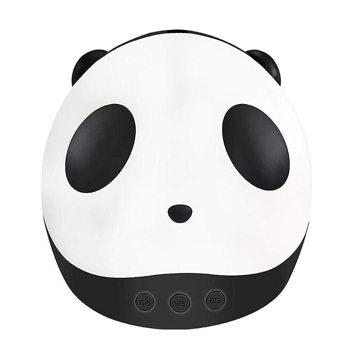 子犬理容師実装するパンダネイルドライヤーミニUV光線療法Led光線療法ライト36ワットスマートネイル光線療法機ネイルライト付き3タイマー設定機能、黒 (Color : Black)