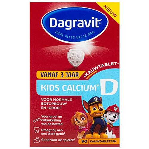 Dagravit Calcio y vitaminas D para niños, 90 TB