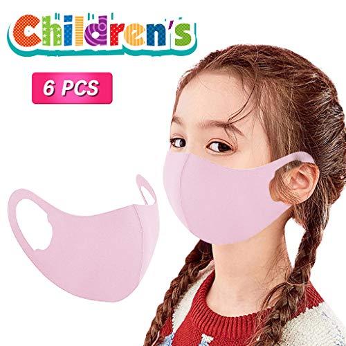Sale!! Pan Hui 6PCS Children Unisex Washable Reusable 3D Design Face Protections Comfortable Healthy...