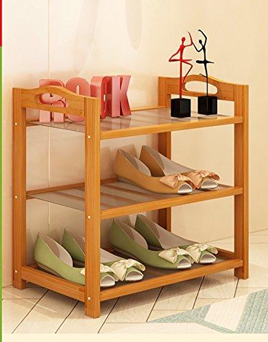 CHGDFQ Zapatero de bambú natural, simple zapatero de varios pisos, zapatero multifuncional, pequeño y económico (tamaño: 50 cm)