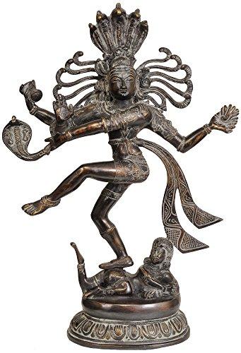 Exotic India Lord Shiva comme Nataraja, Super Antique, Taille : 4 x 12 x 17,5