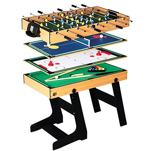 shengshiyujia Deluxe 4 in 1 Top Game Table Stabiler Combo-Tischtennis (Ping Pong), Glide Hockey, Fußball-Kicker, Pool-Set für Kinder und Kinder