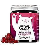 BEARS WITH BENEFITS® Colágeno Y Hialurón Ositos De Goma - VERISOL® Collagen - Vitaminas Capilares Y Colágeno Altamente Dosificados - Fabricados En Alemania (90 ositos)