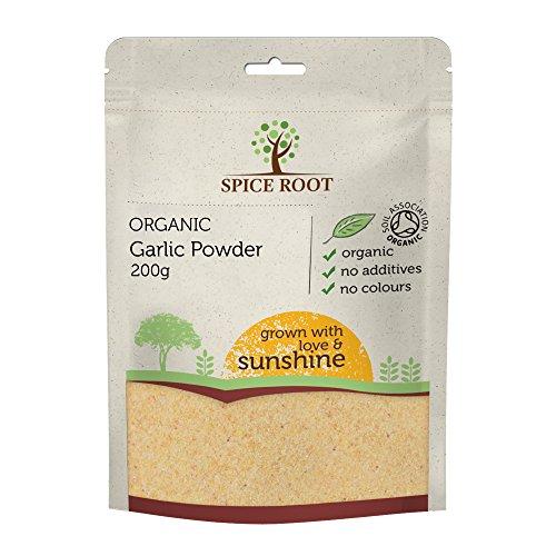 Bio Knoblauch Pulver 200g (Organic Garlic Powder)- Premium Qualität, Bio-zertifiziert | Ausgezeichnetes Aroma, Geschmack und Textur