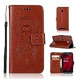 Sangrl Coque pour ASUS ZenFone Go ZC500TG (5.0pouce), Étui Portefeuille PU Leather Flip Coque...