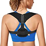 Back Straightener Posture Corrector for Women & Men, Adjustable Upper Back Brace Posture Corrector for Slouching and Hunching, Comfortably Improve Bad Posture and Upper Back Pain